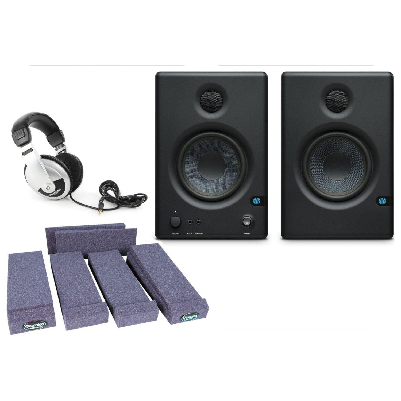 Presonus Eris E4.5 2 Way 4.5 Studio Monitor Pair w/ Isolation Pads and Headphones