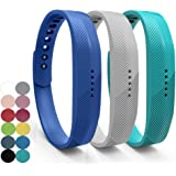 For Fitbit Flex 2 Replacement Watch Band – iFeeker Classic Soft Silicone Metal Clasp Buckle Design Armband Case Holder for 2016 Fitbit Flex 2 Fitness Activity Tracker (Large and Small)