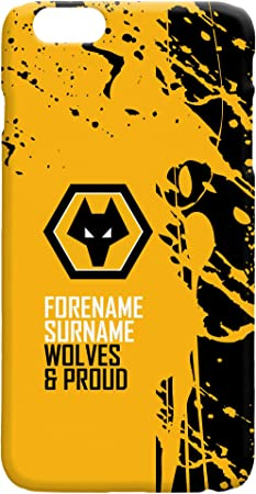 Official Personalised Wolves Hard Back Phone Case - iPhone & Samsung Compatible