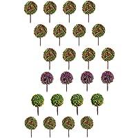 Gazechimp Modelo Árboles con 60 piezas árboles rojos
