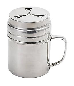 Elizabeth Karmel's Adjustable Dry Rub Shaker with Holes for Medium and Coarse Grind Seasonings, Stainless Steel, 1-Cup Capacity