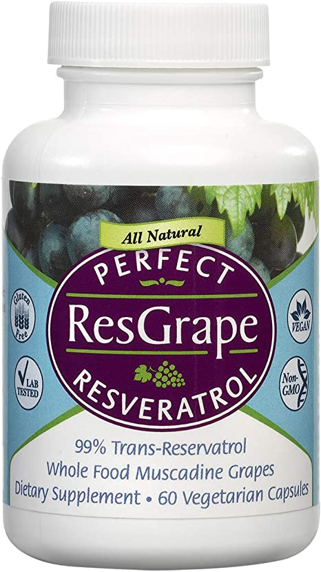 Amazon Com Perfect Resgrape Resveratrol Supplement 200mg 99