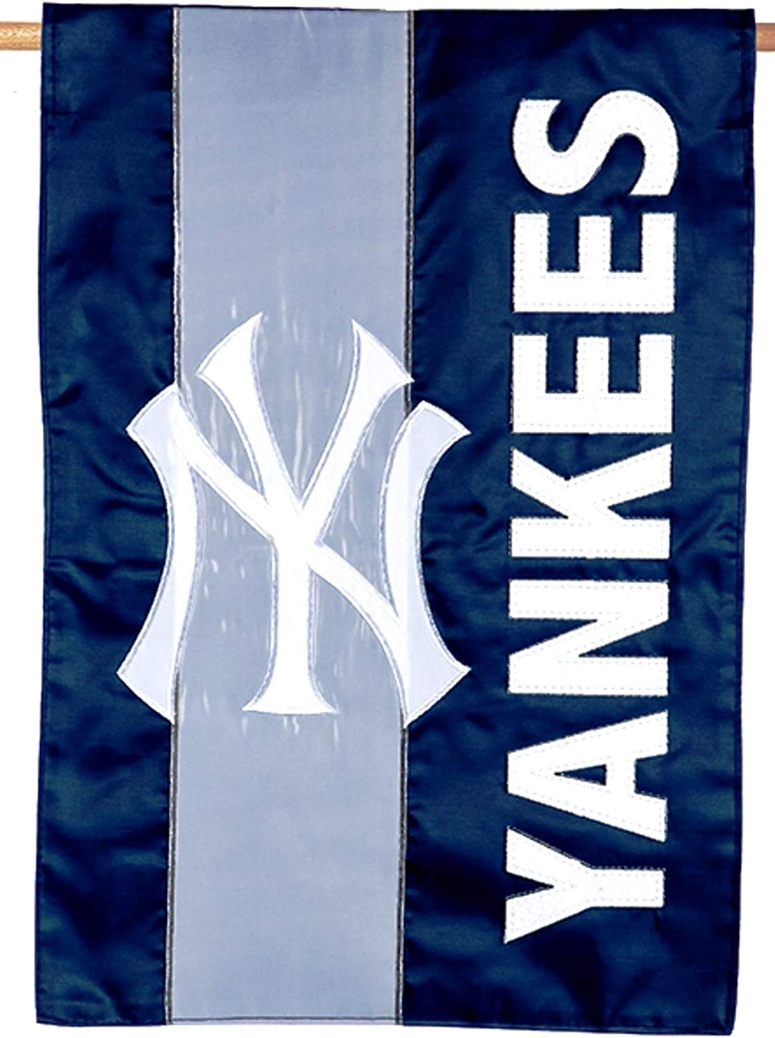 Rico Industries, Inc. New York Yankees Embellished Premium 2-Sided Garden Flag Applique Embroidered Outdoor House Banner Baseball