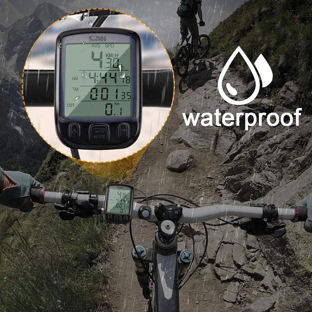 SportUnion Contachilometri per bicicletta con display LCD digitale impermeabile