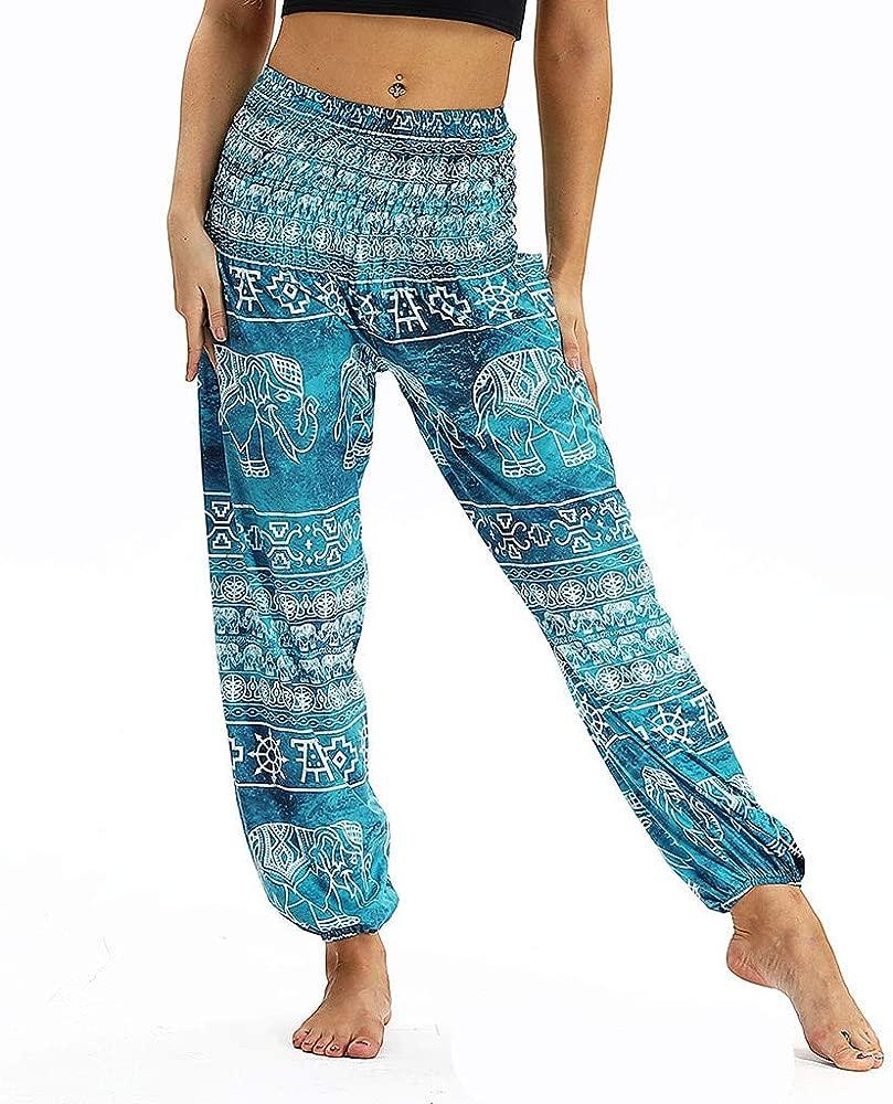 Hombres Mujeres Casual Pantalones Sueltos Hippy Yoga Holgado ...