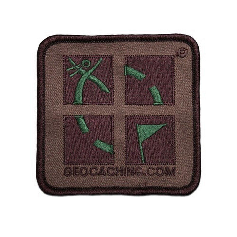 0.05 Color Multicolor Geo de env/ío Camo marr/ón Patch con Logo Verde