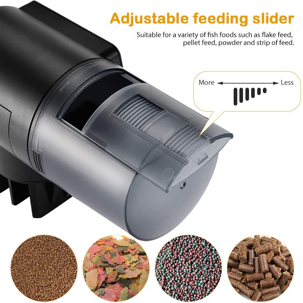 Petacc Alimentador Automático Acuario Multifuncional Comedero Peces Automático con Pantalla LCD y el Tiempo de Alimentación Configuración, ...