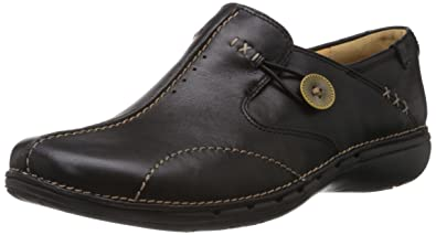 Clarks Loop, Mocassins femmeNoir (Black Leather), 36 EU