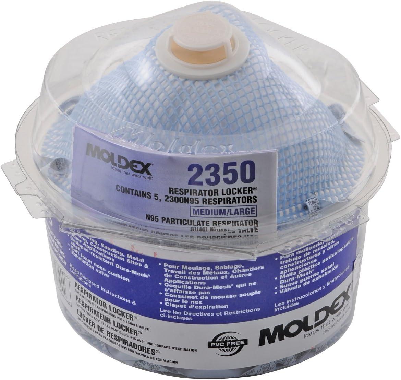 Respirator Locker/® Set of 5 n95 particulate respirator locker w//5 2300n95