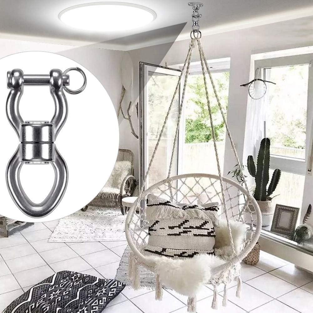 Yoga SELEWARE Swing Swing Swing Girevole Sedia Amaca Acciaio Inossidabile 1200LB 360 /° Dispositivo di Rotazione Accessorio per Appendere con Fibbia Rimovibile per Albero Altalena