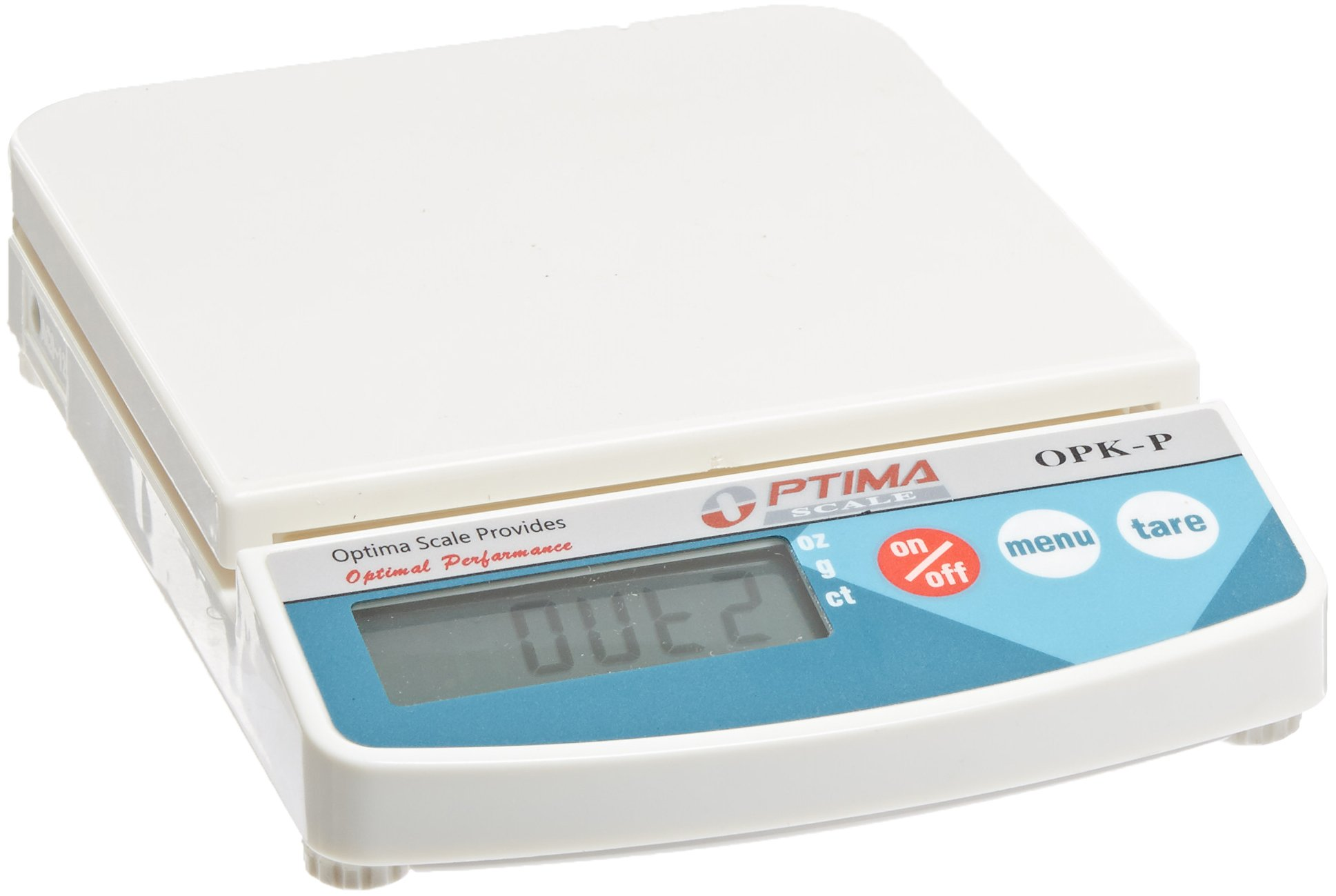 Optima Scales OPK-P500 Compact Digital Precision Scale Balance, 500g x 0.1g, Plastic Pan