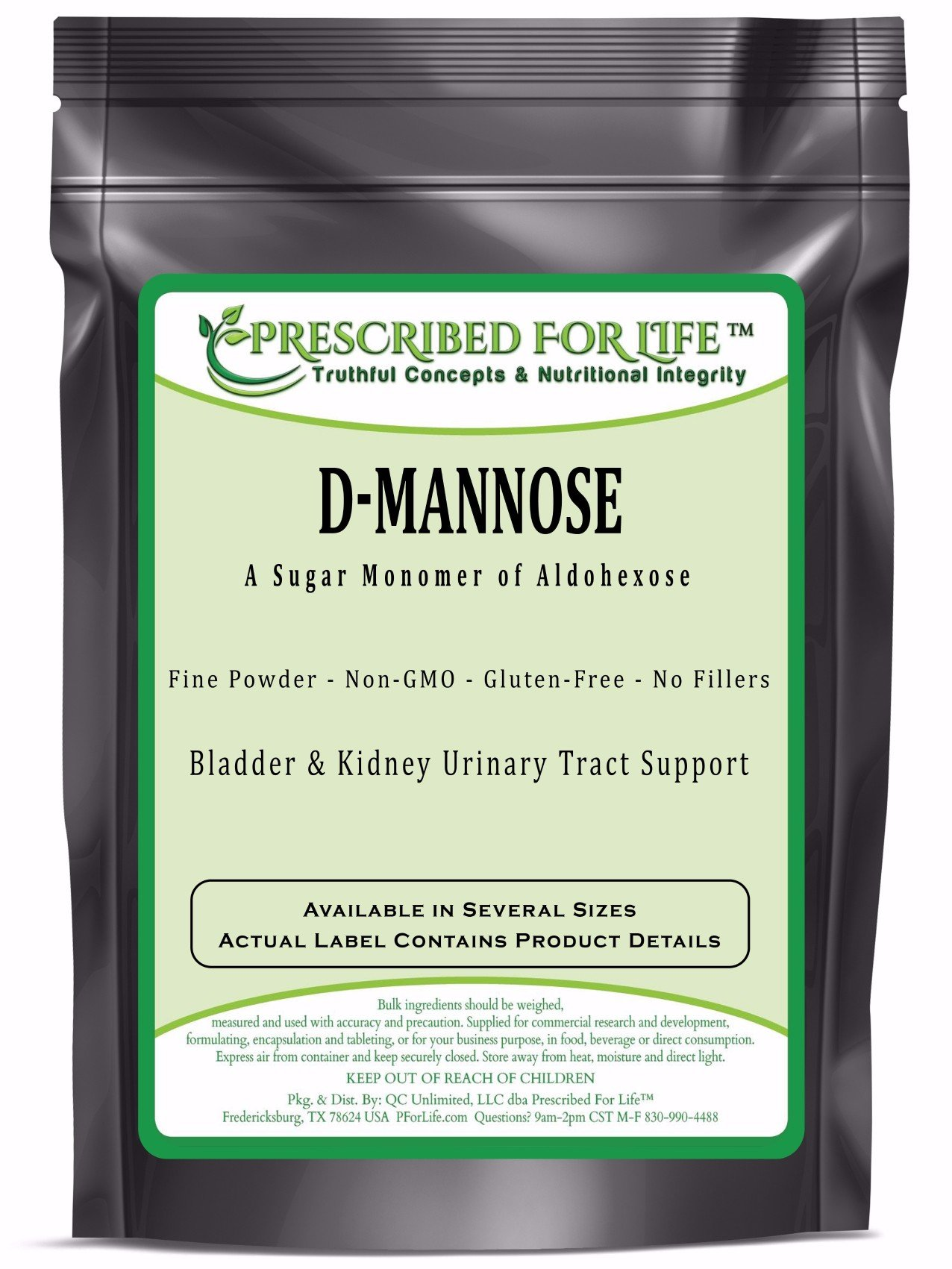 D-Mannose Powder - Natural Urinary Tract and Bladder Support, 2.5 lb