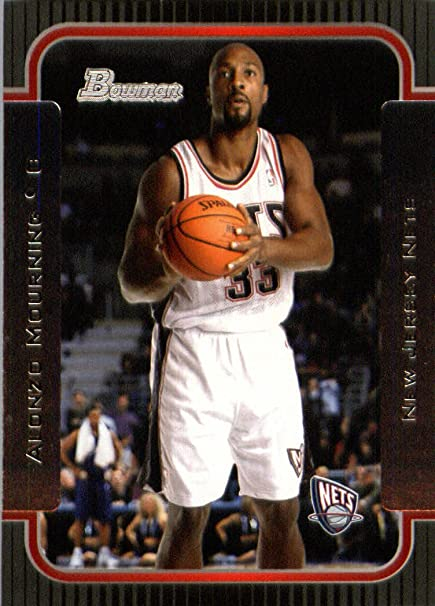 online store 2f4aa bbd2b 2003 04 Bowman Basketball Card #55 Alonzo Mourning New ...