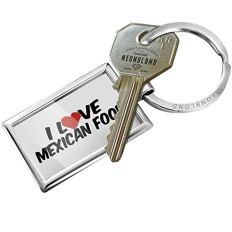 Amazon.com: Llavero I Love comida mexicana – Neonblond ...