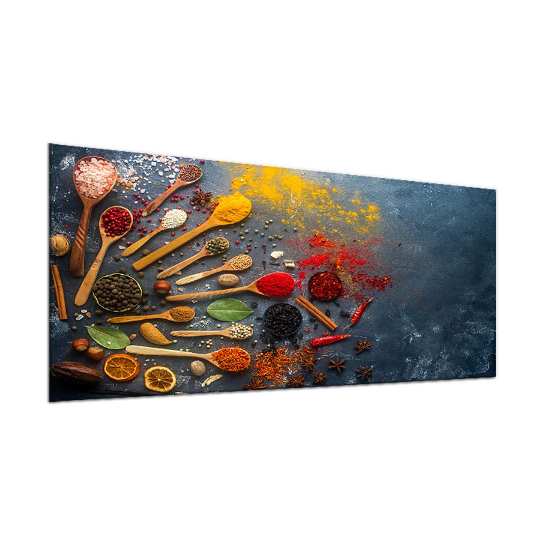 decorwelt Plaque de Protection en Verre pour plaques de Cuisson Multicolore 90 x 52 cm
