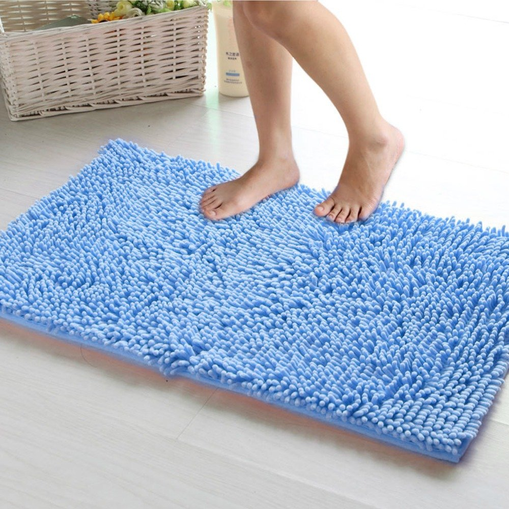 1pcs/lot Floor Mat Bath Carpet 50x80cm Shaggy Chenille Rug Living Room Floor Carpet Bathroom Anti-slip Water-proof