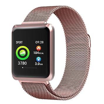 XZYP Bluetooth Smartwatch, Reloj con Pulsera De Metal con Pantalla ...