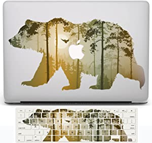 Bear MacBook Pro 16 inch Case 2019 Release A2141, LYLQCXD Matte Plastic Hard Shell Cover Case and Keyboard Cover Skin for 16 inch Mac Pro with Touch Bar and Touch ID, Bear