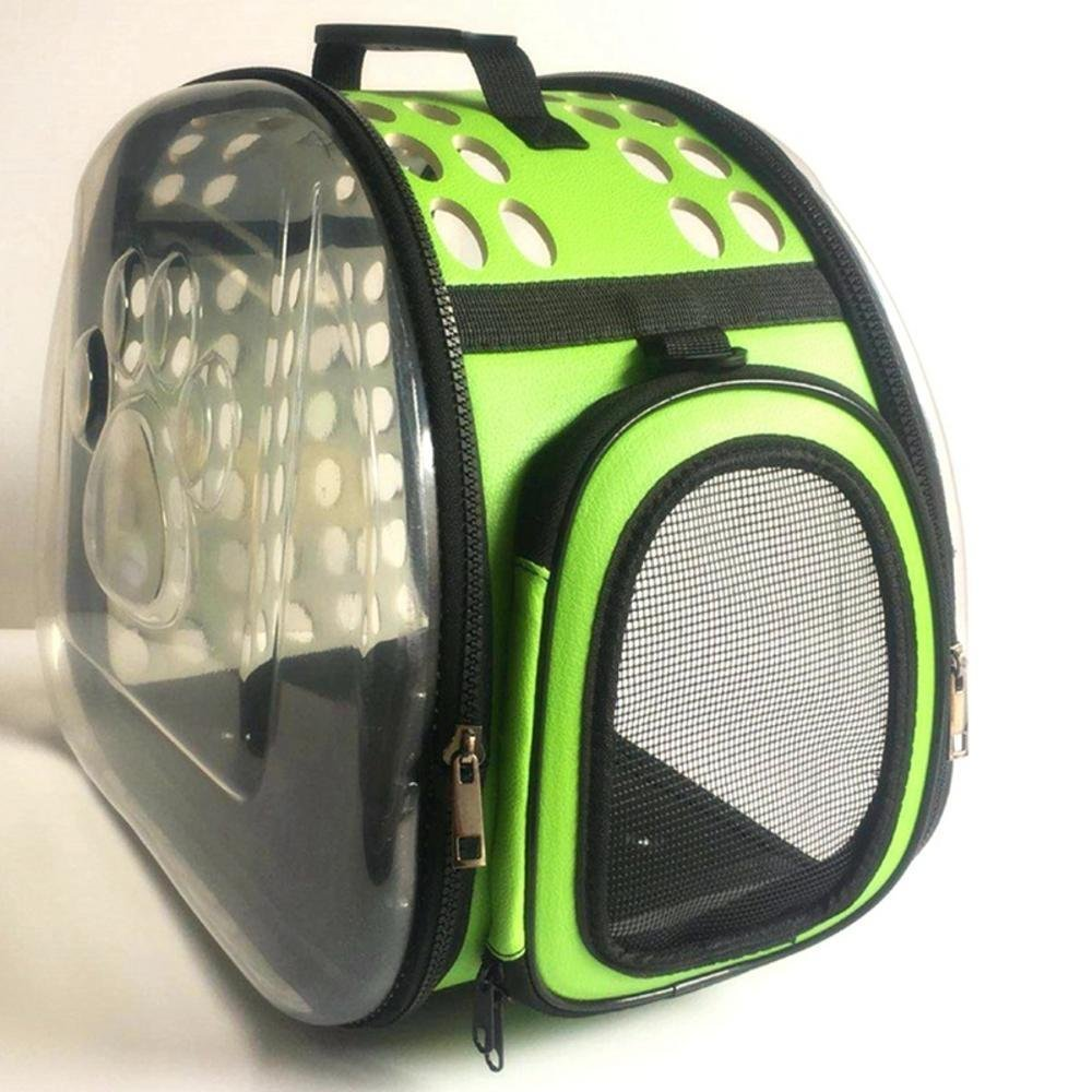 0a597c4f78 Daeou Zaino per per per animali domestici Sacchetto trasparente PVC  pieghevole borsa gatto di bagagli portatile cane gabbia, 42cm, 26cm, 35cm  1b9aa8