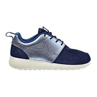 WMNS Nike Roshe One Premium Suede SZ 6 Mid Navy Metallic Blue 820228-400