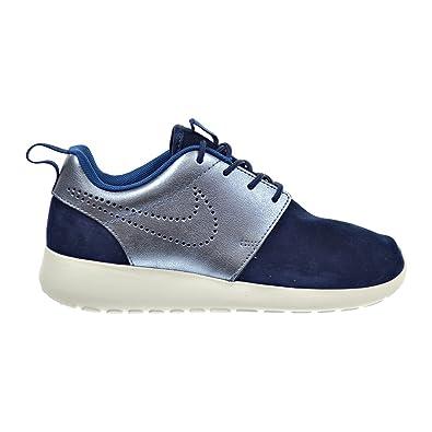 Discount Women Nike Roshe One Premium Suede 820228-400 Midnight Navy Sail Court Blue Metallic Blue Dusk For Sale