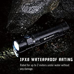 Olight S2R Rechargeable Flashlight for EDC Camping and hiking