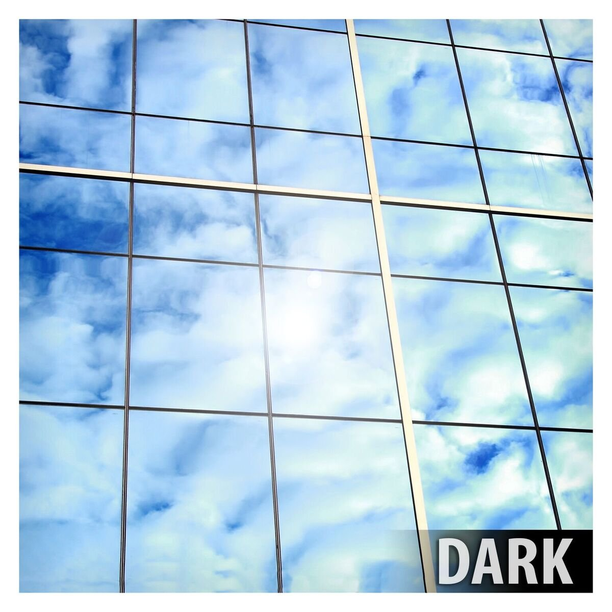BDF EXS15 EXTERIOR Window Film Privacy and Sun Control Silver 15 Dark 48in X 14ft