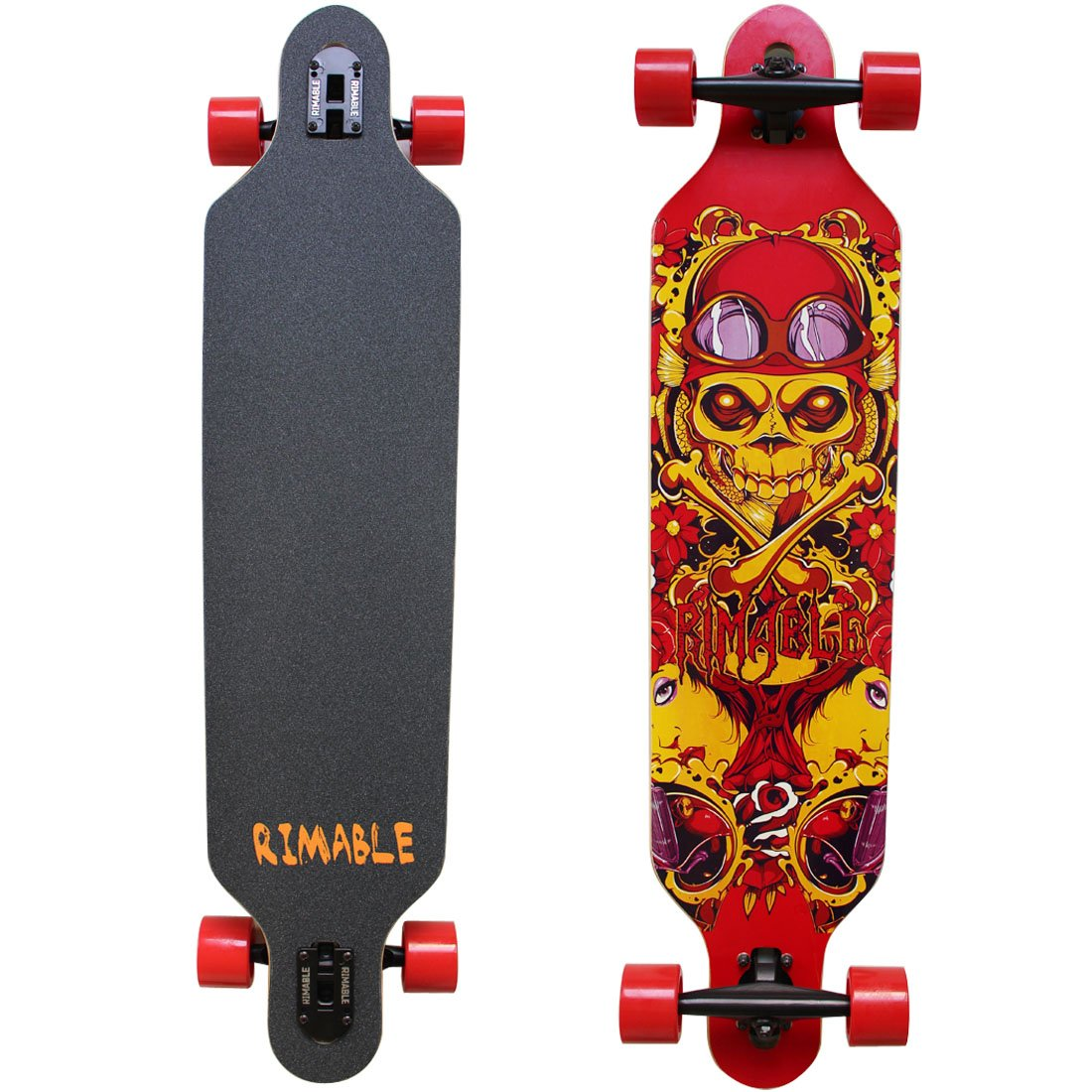 RIMABLE Drop-through Longboard 41Inch (Red Skull)