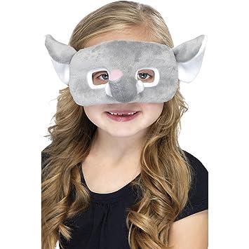 Máscara de elefante para niños accesorios antifaz animal felpa
