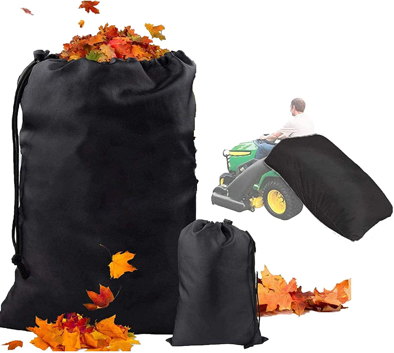 Lawn Tractor Grass Catcher Bag Leaf Bag, Big Capacity 54 Cubic Feet, Opening Garden Lawn Mower Leaf Bags for Garden Leaf Fast Pick Up, Heavy Duty Leaf Bag for Riding Lawn Mower