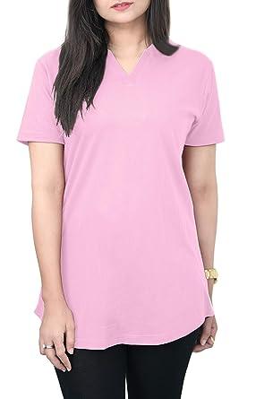 2e53069740e5 Amazon.com: T Shirts for Women V Neck T Shirt 100% Cotton Plain ...