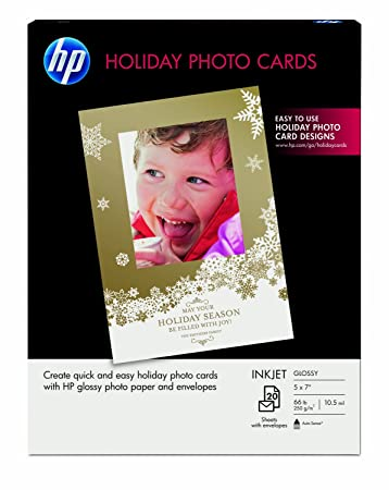 image about Hewlett Packard Printable Cards titled HP Family vacation Photograph Playing cards, 5x7, 20 Sheets With Envelopes (SD724A)