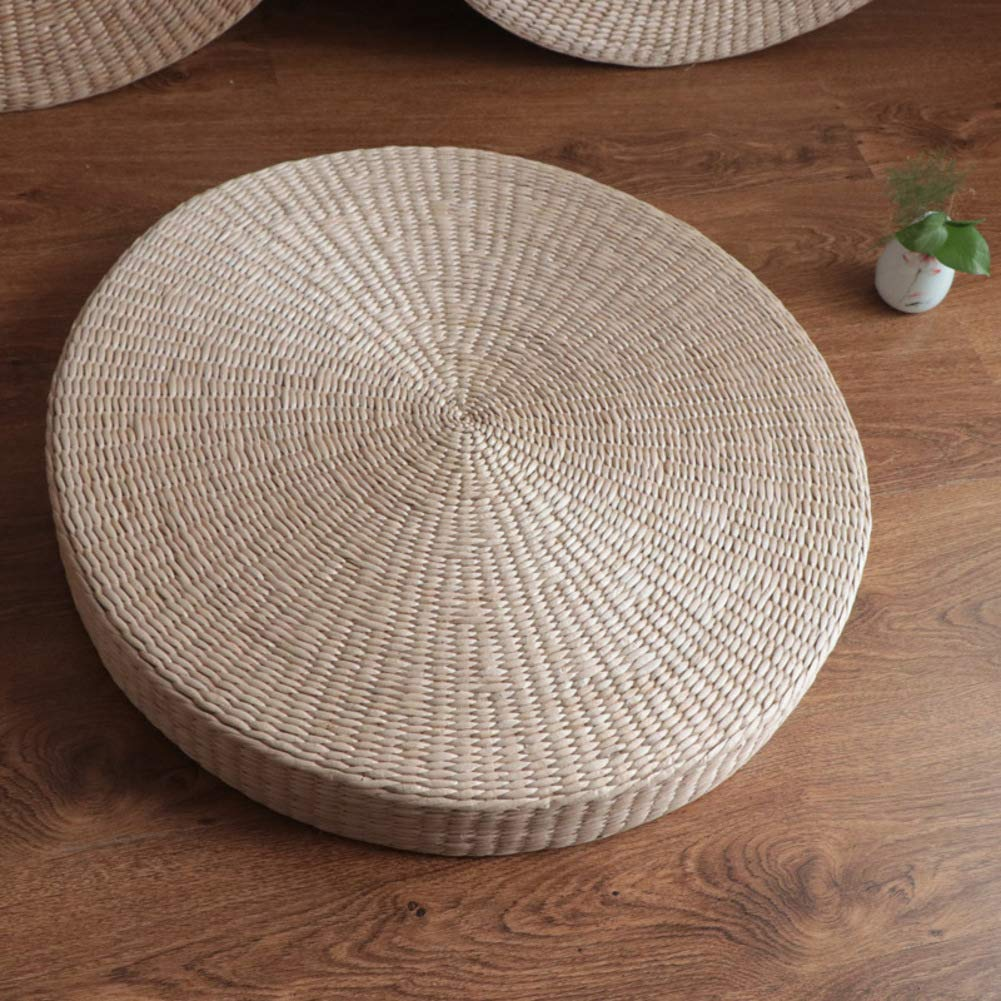 Ttcc natural tatami seat cushion japanese woven eco friendly furniture meditation handmade multi functional breathable floor pillow mat a