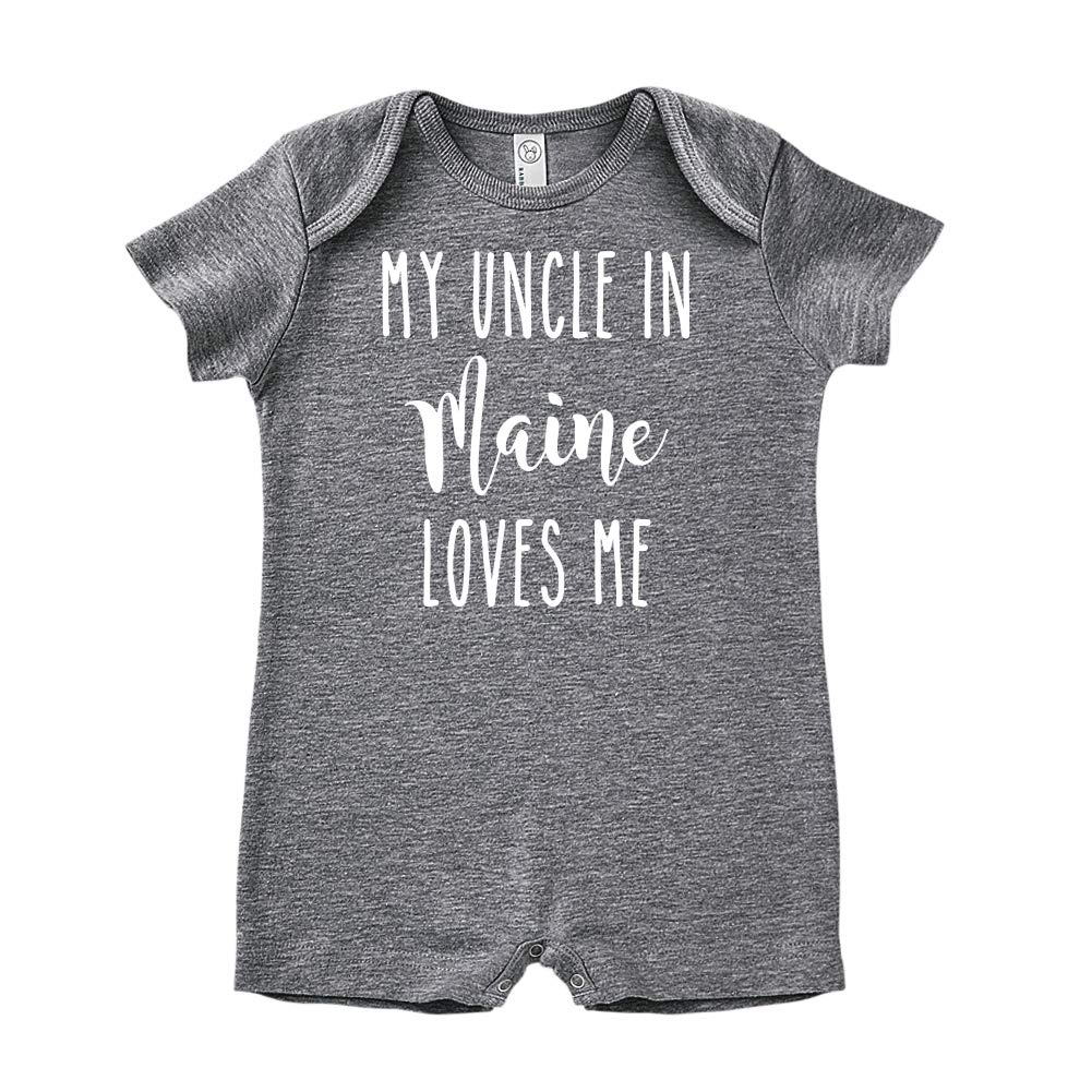 My Uncle in Maine Loves Me Baby Romper