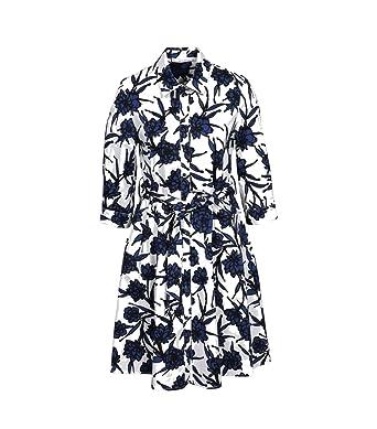 En La Blancbleu Maraboutee Robe Coton Avec Fee Imprimé UVzSMp