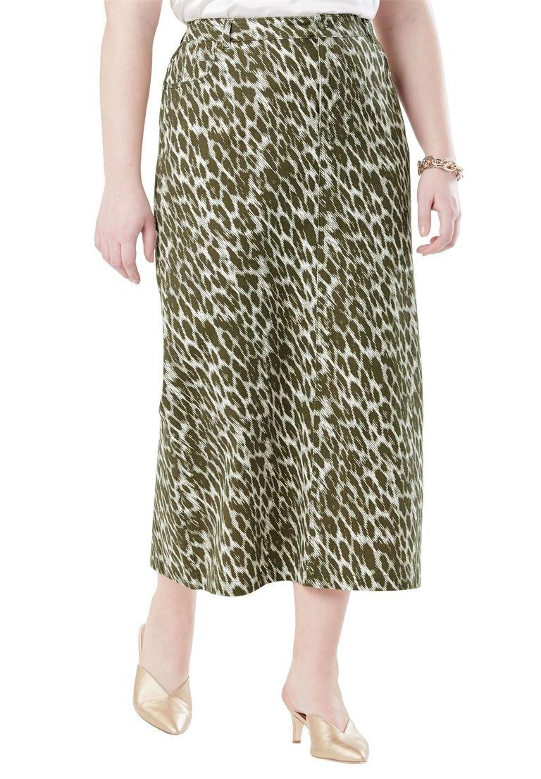 5dacb43dfa Jessica London Women s Plus Size Classic Cotton Denim Long Skirt ...