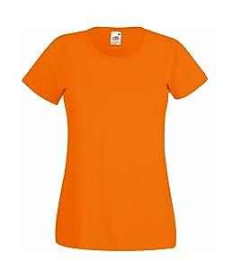 T-shirt à manches courtes Fruit Of The Loom pour femme (XL) (Orange)