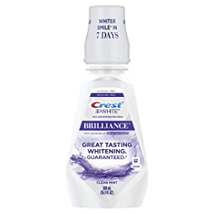 Crest 3D White Brilliance Alcohol Free Whitening Mouthwash Clean Mint 16.9 fl oz