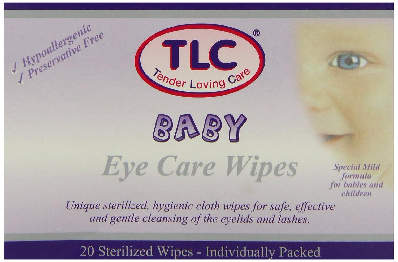 Emballage individuel TLC Pack de 20 lingettes nettoyantes pour les yeux de b/éb/é Hypoallerg/énique