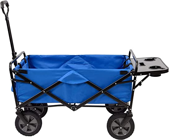 Blue FORUP Collapsible Folding Outdoor Utility Wagon Cart