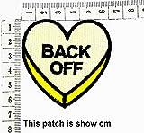 Heart Yellow Heart Back Off Funny Slogan Joke