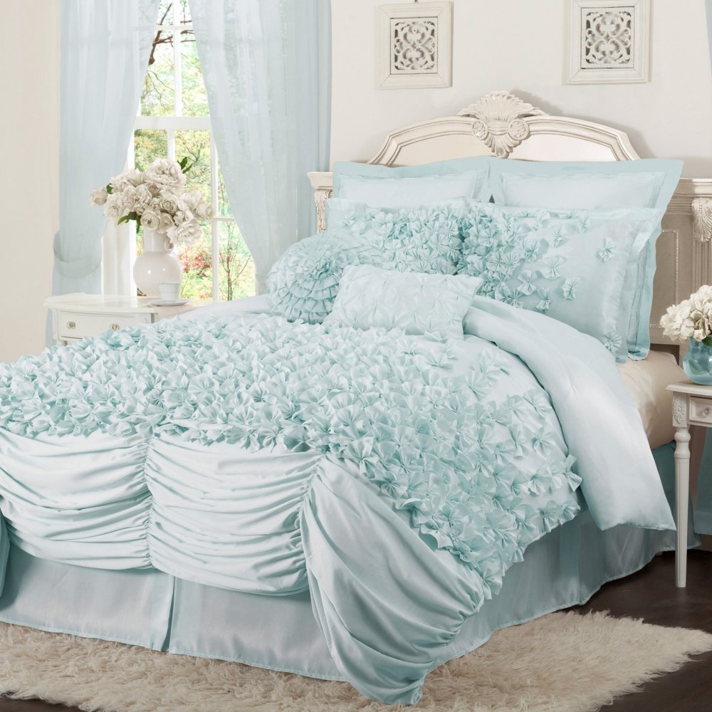 ruffled bedding is frilly and feminine  webnuggetzcom - comforter set