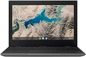 "Lenovo 100E Chromebook 2ND Gen 81QB000AUS Laptop Computer, 11.6"" HD (1366 X 768) Display, MediaTek MT8173C Processor, 4GB RAM, 16GB eMMC TLC SSD, Powervr GX6250, Chrome OS, Black"