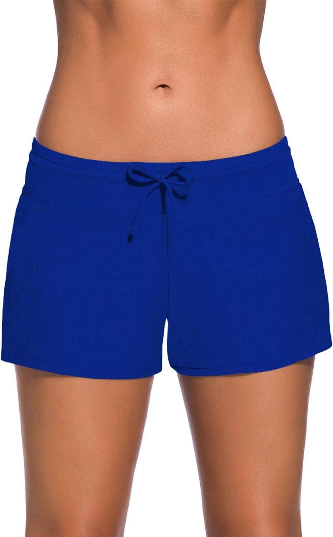 WILLBOND Women Swimsuit Shorts Tankini Swim Briefs Plus Size Bottom Boardshort Summer Swimwear Beach Trunks for Girls