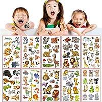 UniBaby7 Tatuajes Temporales para Niños, 20 hojas 200pcs Tema Animal Tatoos Infantiles Impermeable Respetuoso Con La…