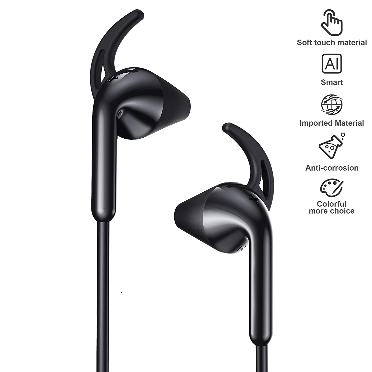 Wireless Headphones, Bluetooth 5.0 Wireless Earbuds with mic, Linpa World 10 Hours Playtime, IPX5 Waterproof Sports Earphones for Running Exercise Gym Workout