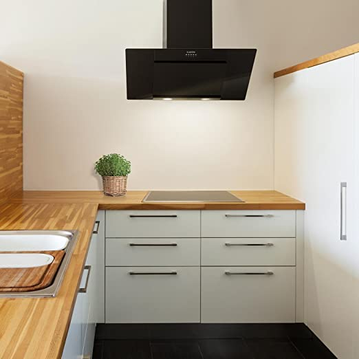 Klarstein Zola 90 - Campana extractora de pared, Succión y circulación de aire, 3 niveles, Succión 640 m³/h, Timer de apagado, Instalación en la pared, Filtro de grasa de aluminio, Negro: Amazon.es: