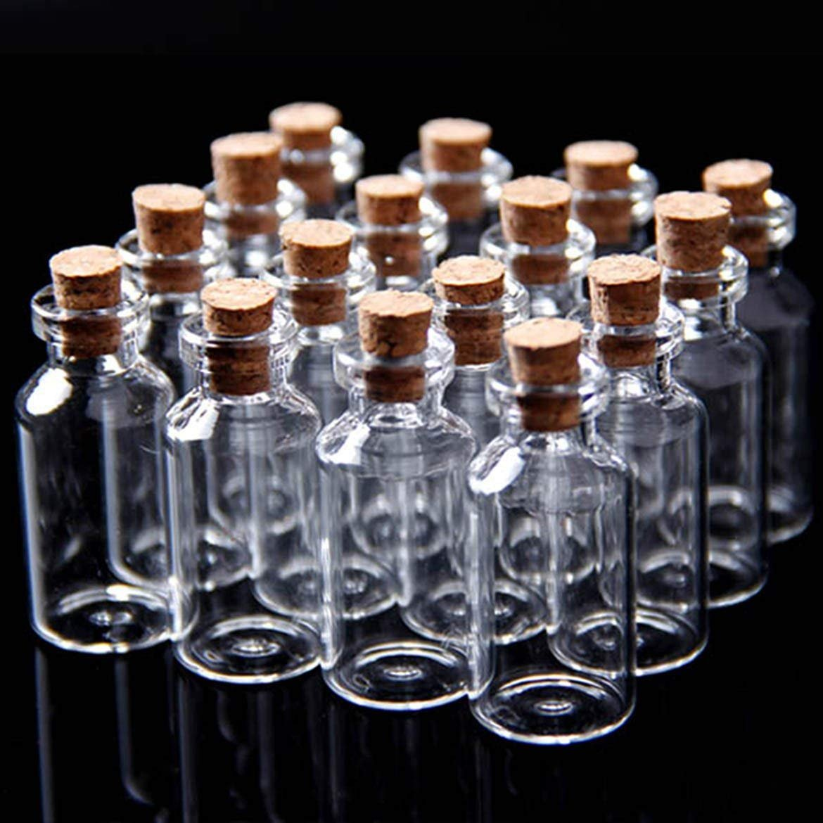 24Pcs Tiny Mini Empty Clear Cork Glass Bottles Vials 7ml -22 (Dia.) x 40 mm by GAOHOU G12