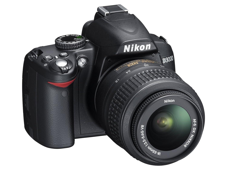 Nikon D3000 - Cámara réflex (10 megapíxeles) con objetivo 18 ...