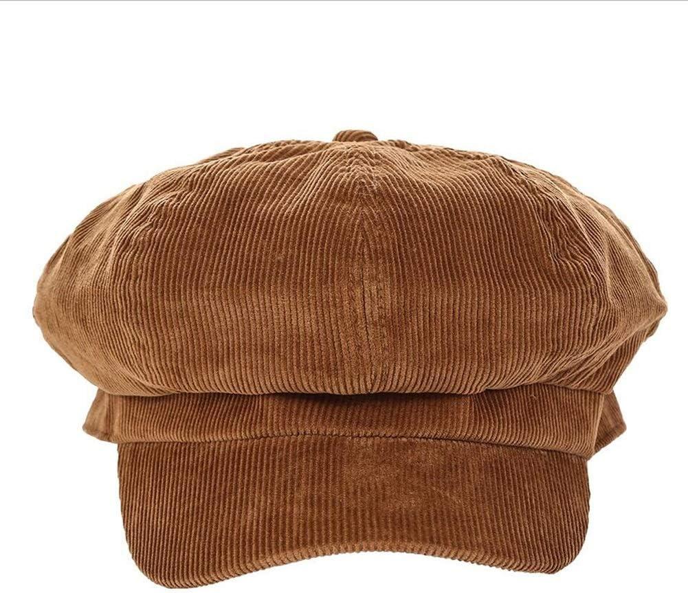 ZHML Sombrero Moda Casual Gorro De Punto Grueso 100% Algodón Sombrero Cálido Doble Color Opcional (Color : Brown, Tamaño : Metro)